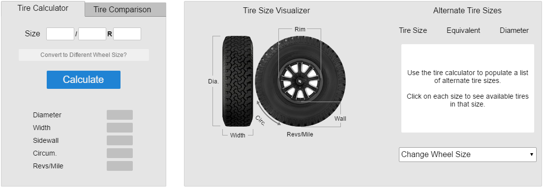 Compare Tire Sizes >> Wheel And Tires 101 North Shore Off Road Truck And Jeep Blog